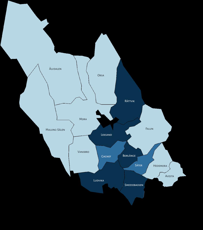 Dalarnas kommuner